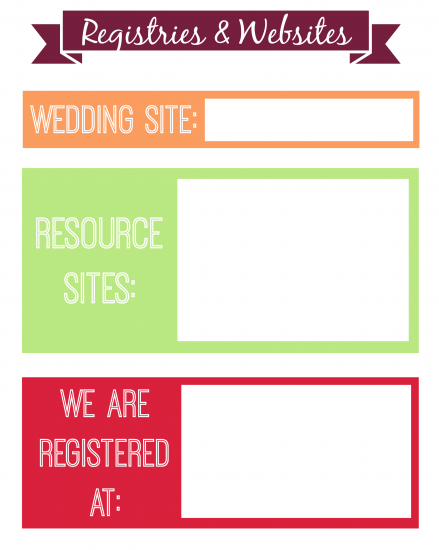 Registries & Websites