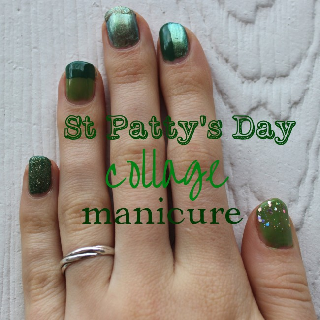 St. Patty's Day Collage Manicure
