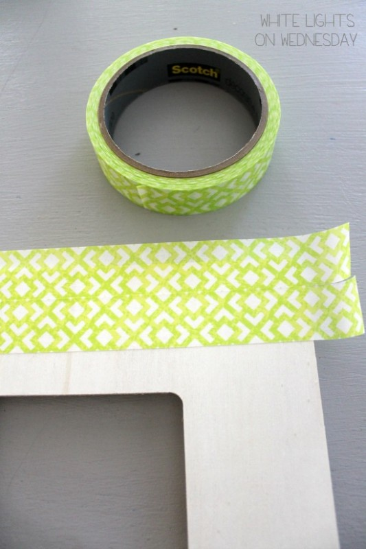 Washi Tape Kiss Me Picture Frame 3 533x800 Kiss Me   St. Pattys Day DIY Craft   By Julie of White Lights On Wednesday