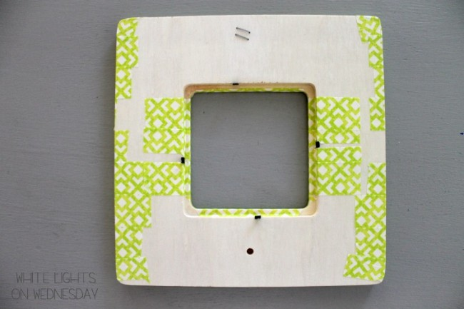 Washi Tape Kiss Me Picture Frame 8 650x433 Kiss Me   St. Pattys Day DIY Craft   By Julie of White Lights On Wednesday