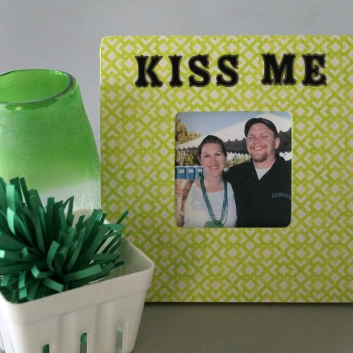 "Washi ""Kiss Me"" Picture Frame"