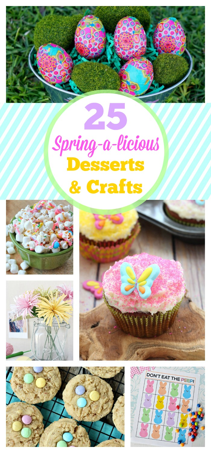 25 Sprin-a-licious Desserts & Crafts on www.whitelightsonwednesday.com