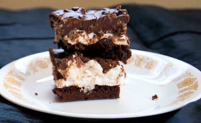 Julie's Favorites Brownie Magic Mallow Bars