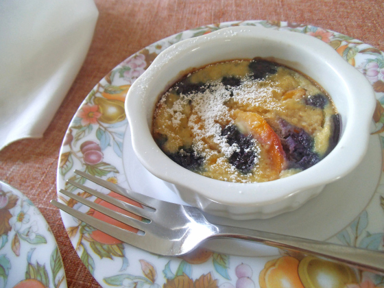 Most Viewed - Blueberry Peach Clafoutis
