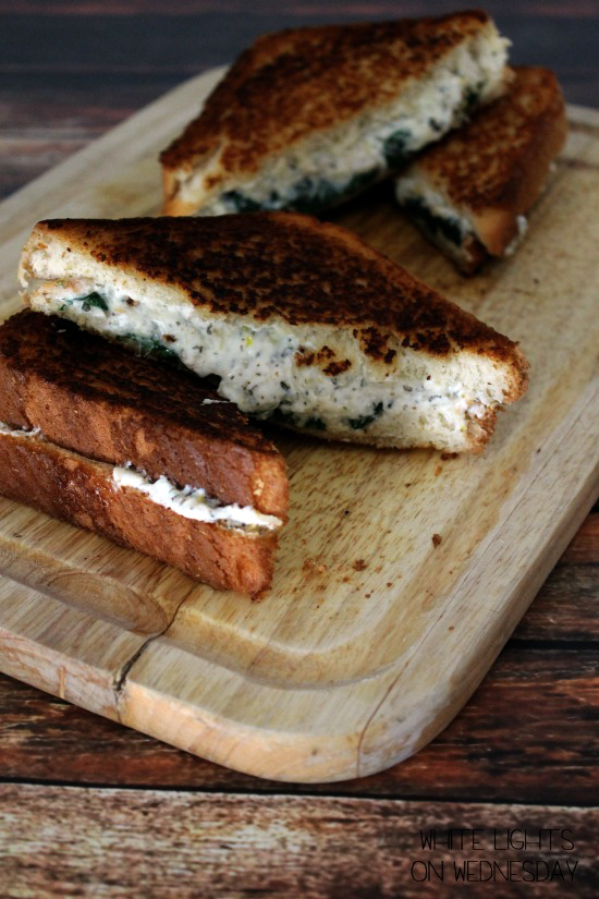 Ricotta & Spinach Grilled Cheese | White Lights on Wednesday