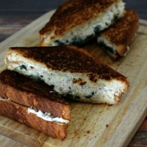 Ricotta & Spinach Grilled Cheese FEAT