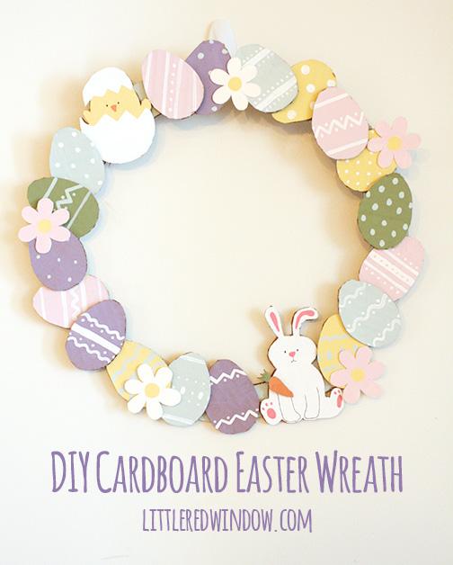 diy carboard easter wreath