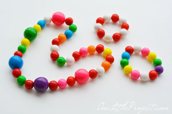 edible gumball necklace
