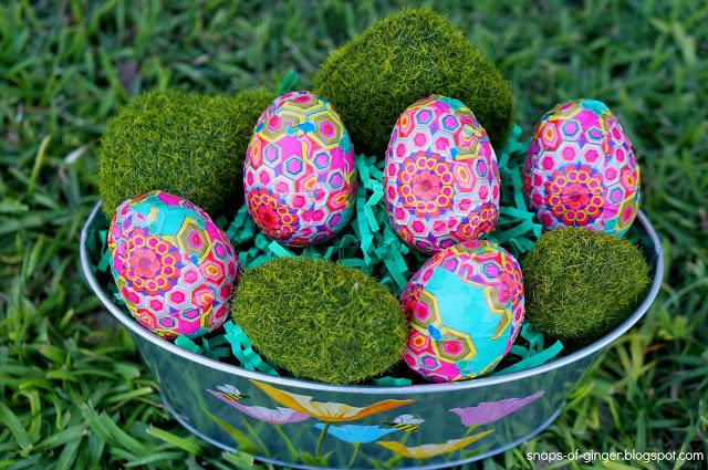 mod decoupaged eggs