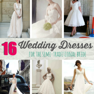 16 Wedding Dresses for the Semi-Traditional Bride