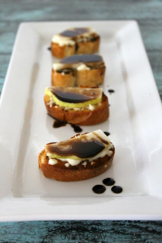 Balsamic Pear & Bleu Cheese Bruschetta 1
