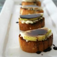 Balsamic Pear & Bleu Cheese Bruschetta