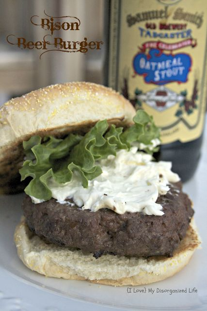 Bison Burger with Bleu Cheese Spread
