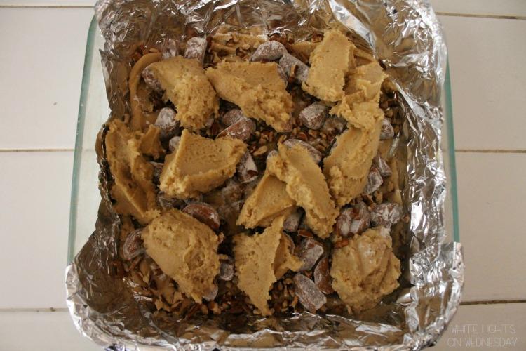 Caramel Pecan Blondies 4