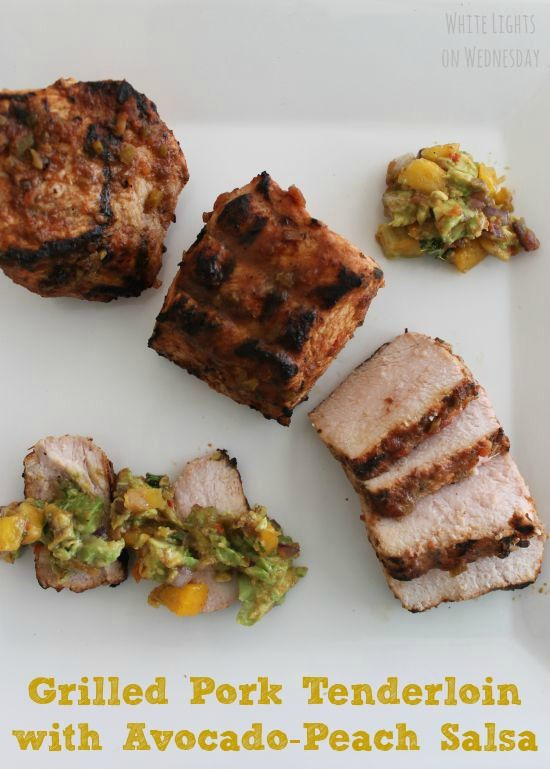 Grilled Pork Tenderloin with Avocado-Peach Salsa