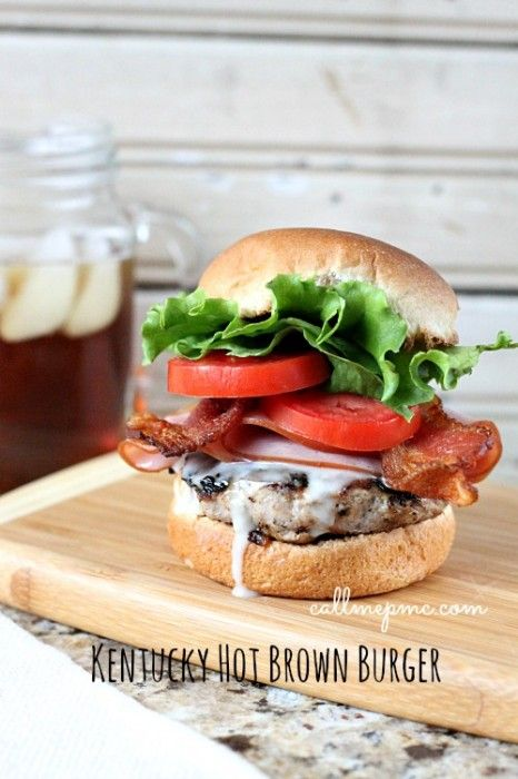 Kentucky Hot Brown Burger