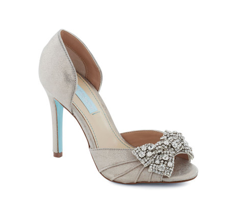 Shoe 1 - Betsy Johnson Dancing Gleam Heel in Silver $129