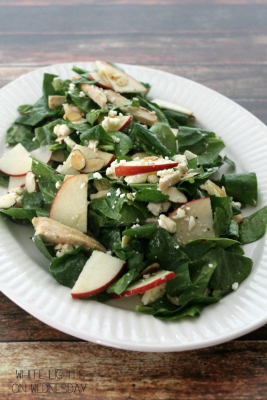 Spinach, Apple & Chicken Salad 3