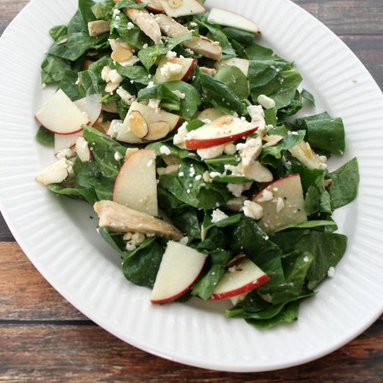 Spinach, Apple & Chicken Salad