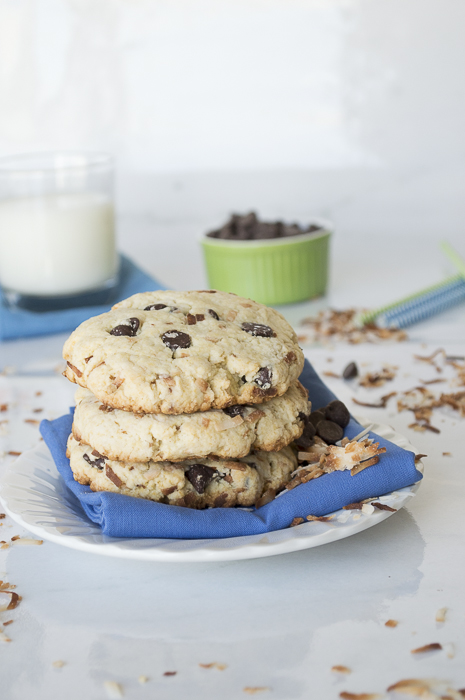 Toasted Coconut Chocolate Chip Scones