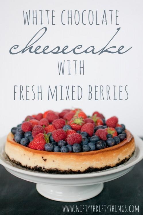 White Chocolate Cheesecake with Fresh Mixed Berries