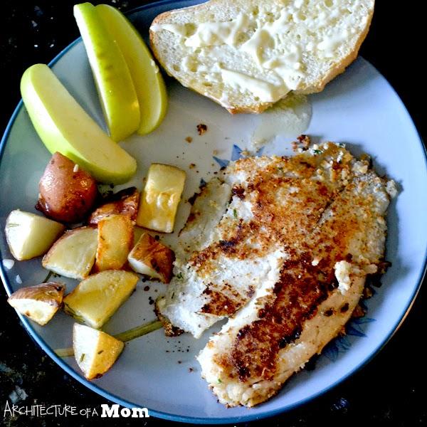 parmesan & hive crusted tilapia