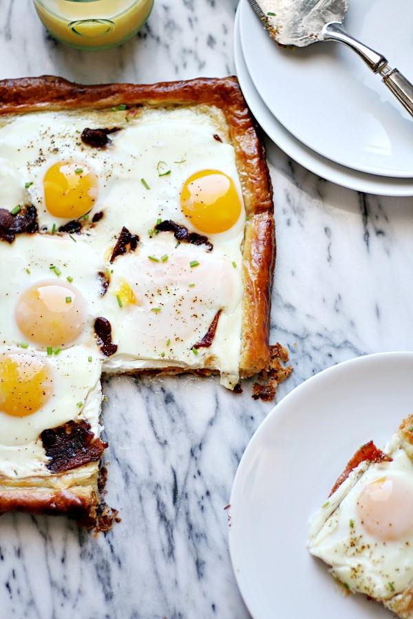 Bacon & Egg Puff Pastry Breakfast Tart