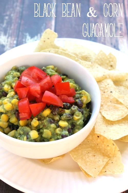 Black Bean & Corn Guacamole | White Lights on Wednesday