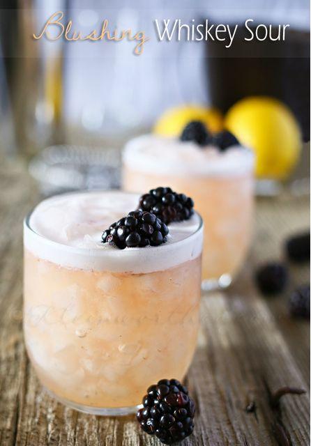 Blushing Whiskey Sour