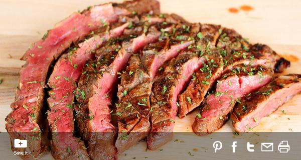 California Style Garlic Pepper Steak from #MyFlavorPrint
