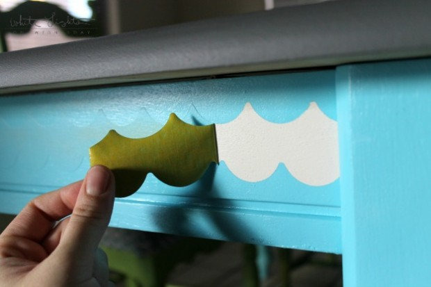 DIY Stenciled Table 9