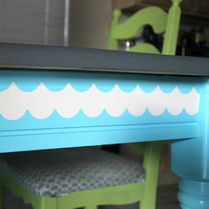 DIY Stenciled Table