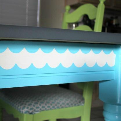 DIY Stenciled Table
