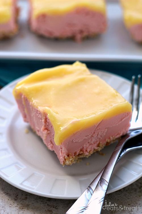 Grandma's Lemon Raspberry Sherbet Dessert