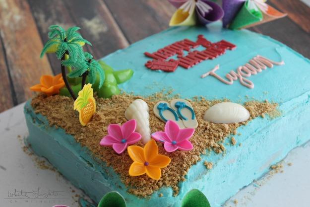Triple Pineapple Luau Cake White Lights On Wednesday