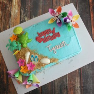 Awe Inspiring Triple Pineapple Luau Cake White Lights On Wednesday Funny Birthday Cards Online Elaedamsfinfo