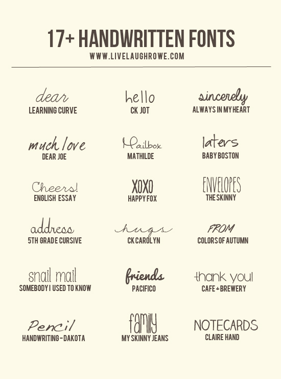 17+ Free Handwritten Fonts