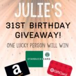 My 31st Birthday Giveaway!!