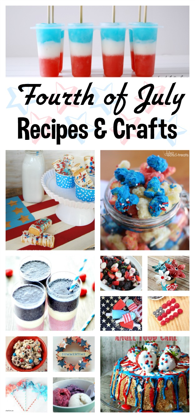 10+ Fourth of July Recipes & Crafts | White Lights on Wednesday