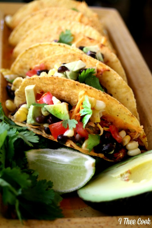 Baked Blackened Chicken Tacos with Southwest Relish | White Lights on Wednesday
