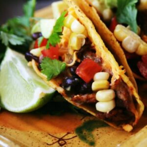 Baked Blackened Chicken Tacos with Southwest Relish FEAT