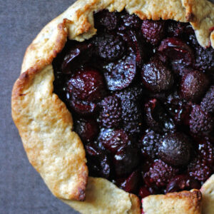 Blackberry Cherry Galette | It Bakes Me Happy