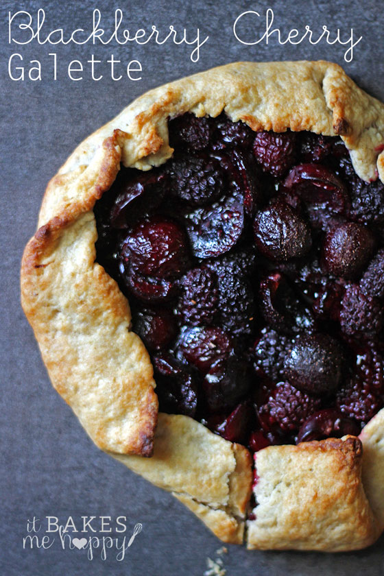 Blackberry Cherry Galette | It Bakes Me Happy for White Lights on Wednesday