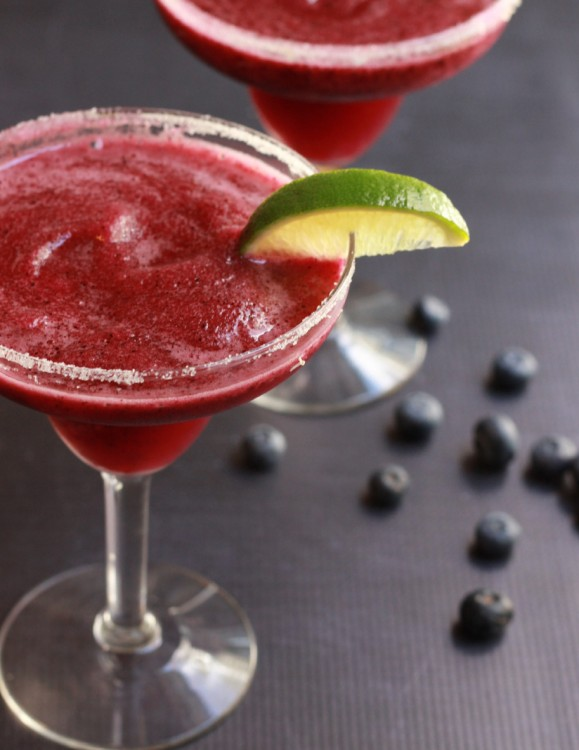 Blueberry Passion Fruit Margaritas