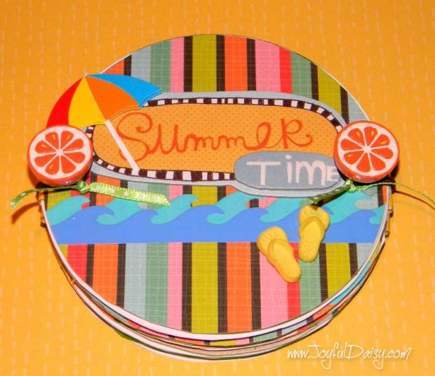 CD mini scrapbook album cover