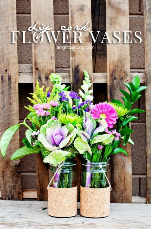 DIY Cork Vases