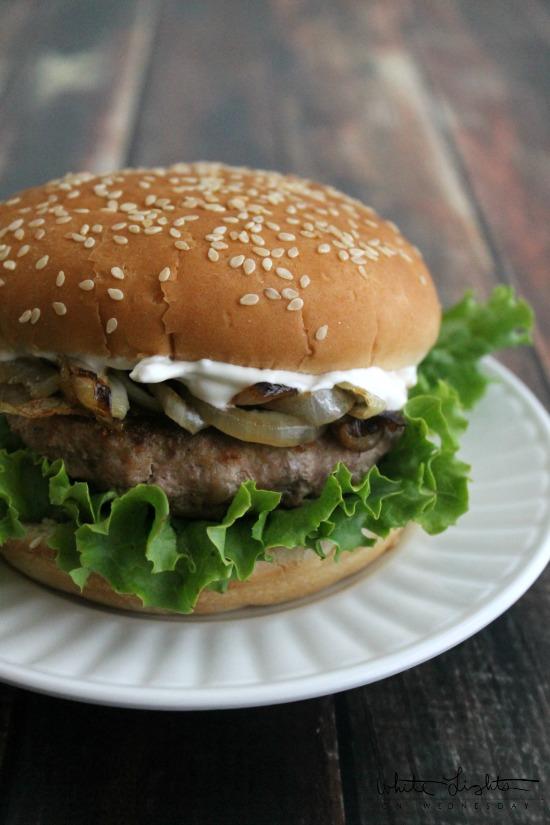 French Onion Turkey Burger 1