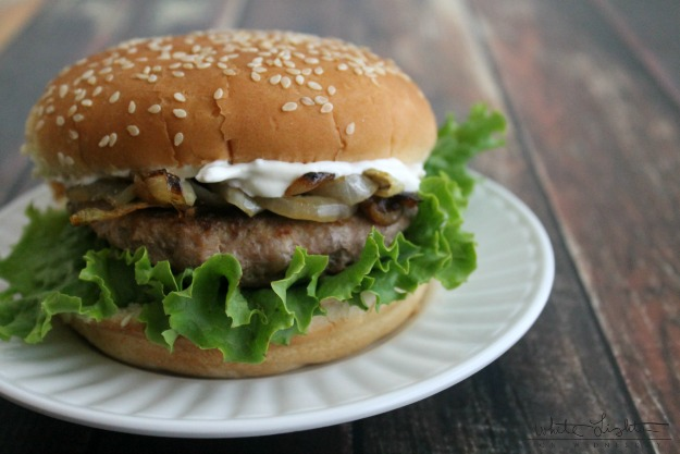 French Onion Turkey Burger 2