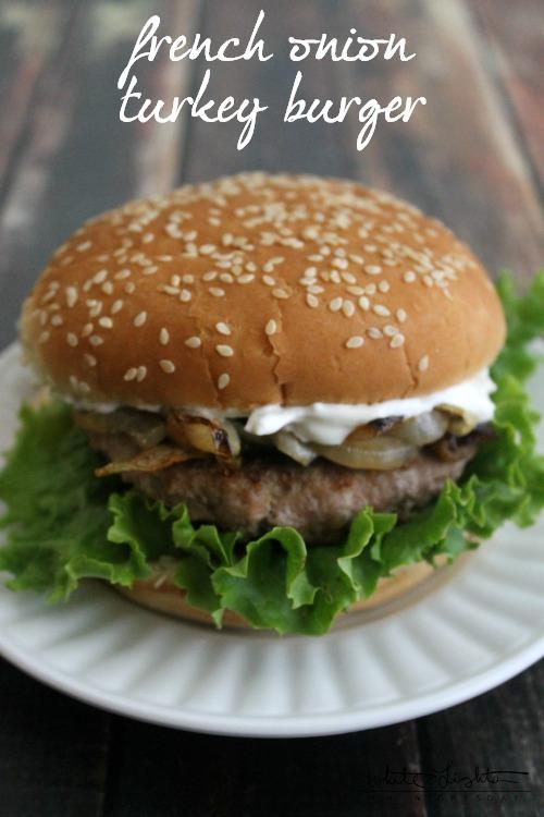 French Onion Turkey Burger 3