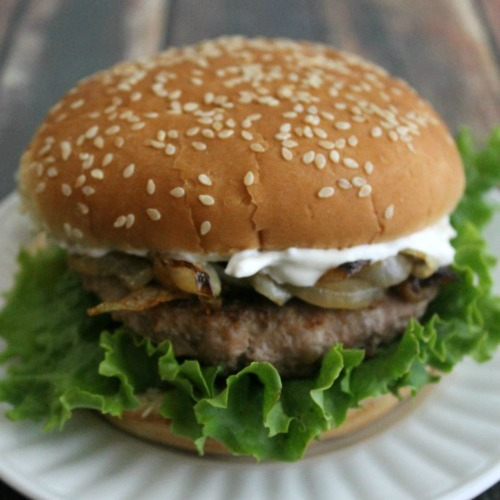 French Onion Turkey Burger